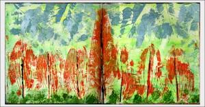 Leaf Print Landscape