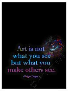 Art is not...