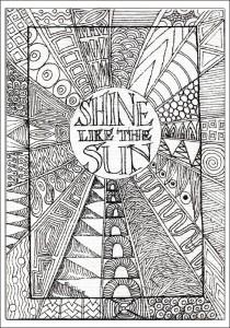Sun Zentangle