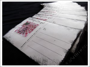 Handmade Postcard Backs