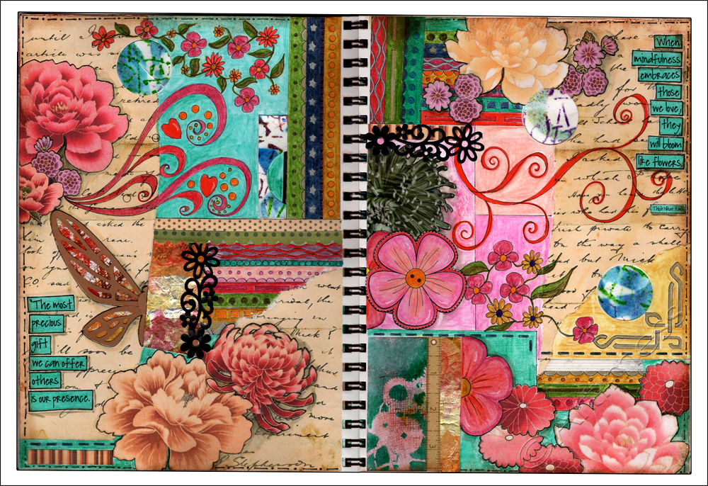 Bloom Like Flowers - 21 Secrets 2013, Cathy Bluteau's Doodling You Way Class