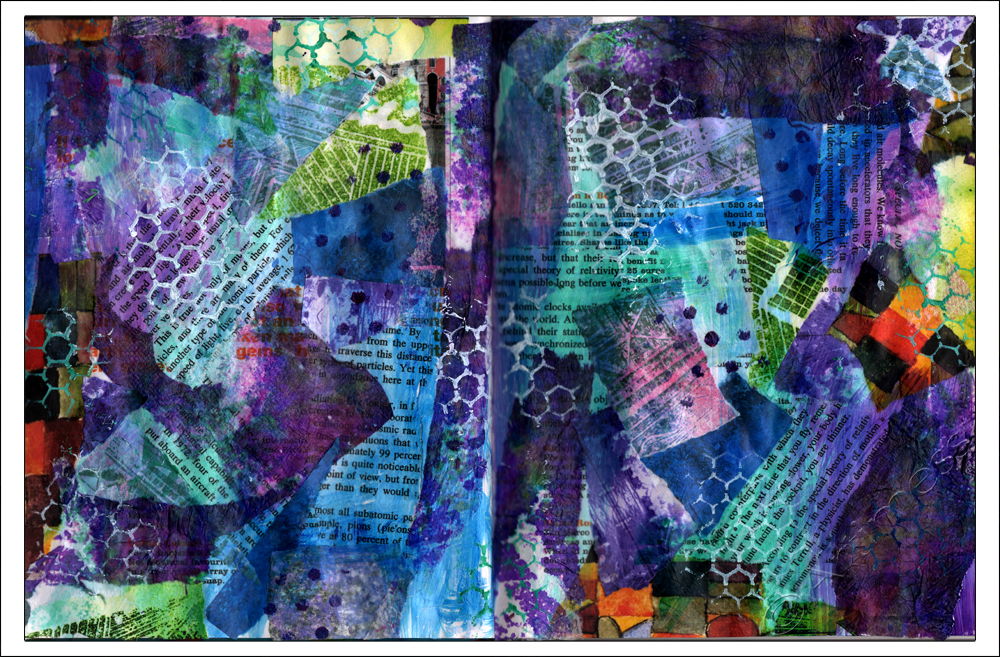 Collage and Paint - Life Book 2013, Week 31