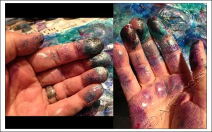 Paint Stained Hands!