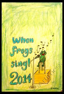 When Frogs Sing 2014 Cover